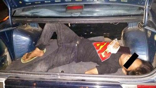 Suspek Curi Kenderaan Kantoi Menyorok Dalam Boot Kereta