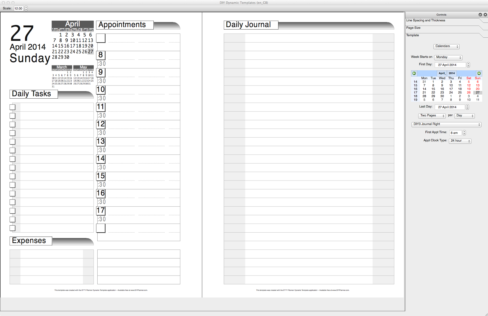 picture relating to Diy Planner Templates titled Philofaxy: Do it yourself Dynamic Templates