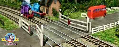 Bertie the bus Thomas Edward the tank engine and Charlie train setoff on there high speed adventure
