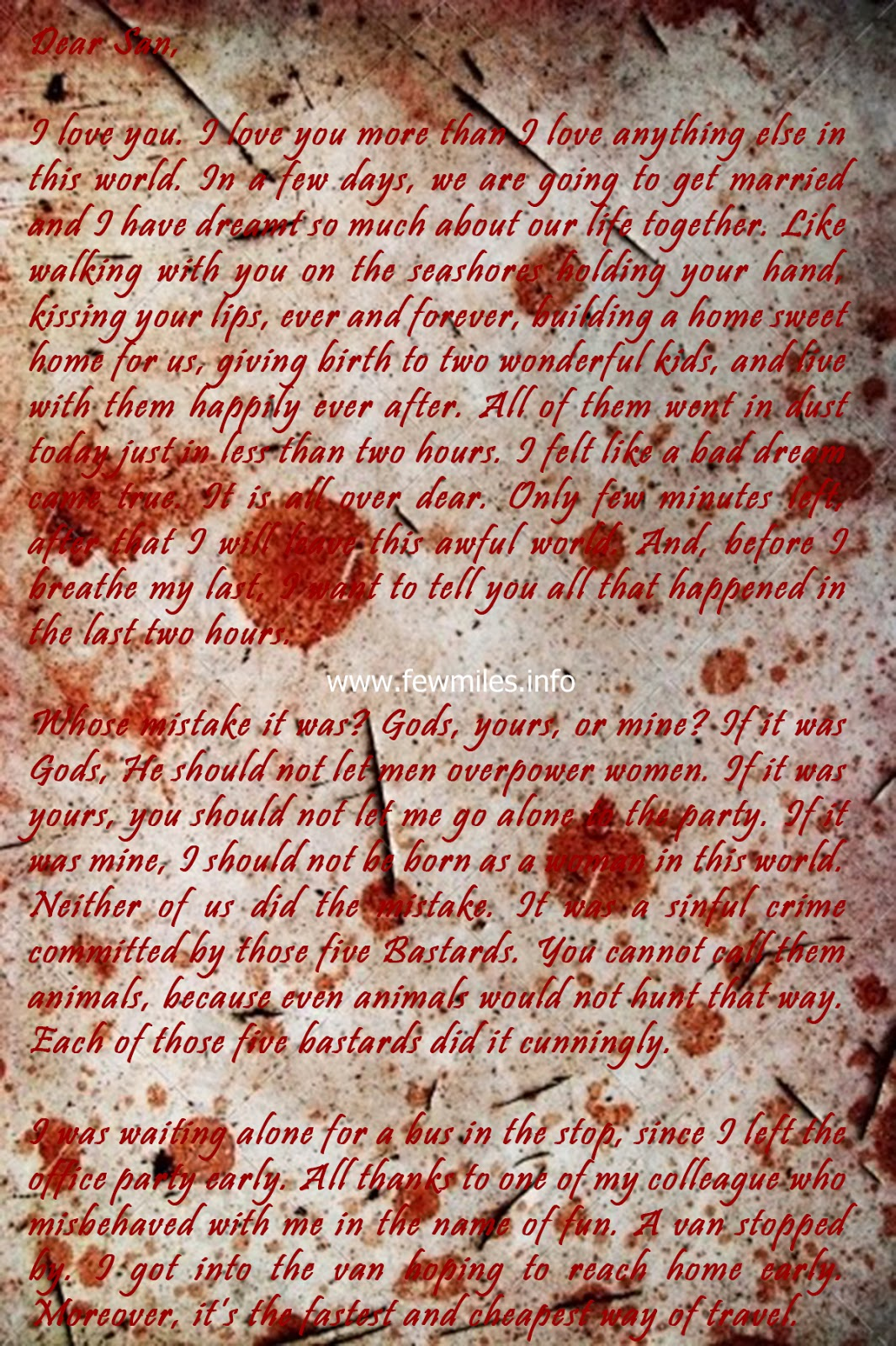 Unsent Letter by a Girl Who Was Gang Raped