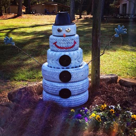 Me and my crafties january 2015 for Snowmen made from tires