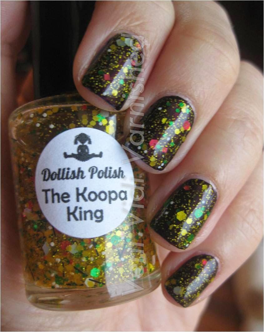 Dollish Polish The Koopa King over OPI Germanicure