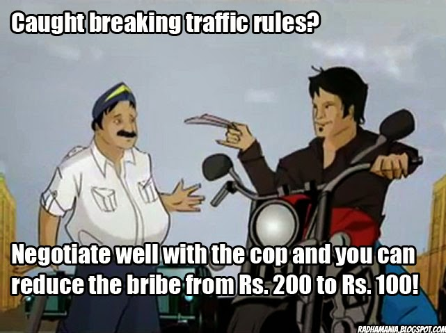 indian life hack bribe traffic cop police
