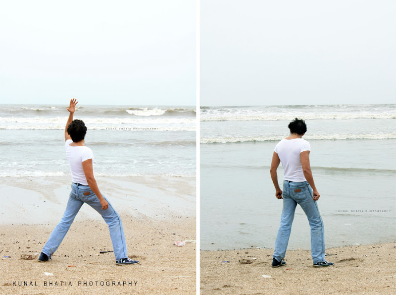 dancer practising dance moves on juhu beach indian film industry bollywood is based in mumbai by photographer blogger kunal bhatia