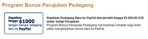 apa paypal memberi uang