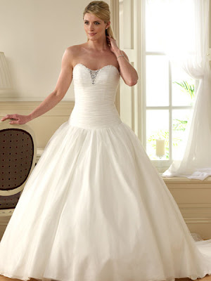 Unique+Ivory+Strapless+Sweetheart+Organza+Princess+Wedding+Dress