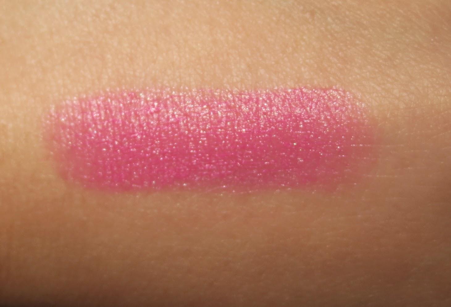Maybelline Master Glaze Blush Stick Pink Fever swatch