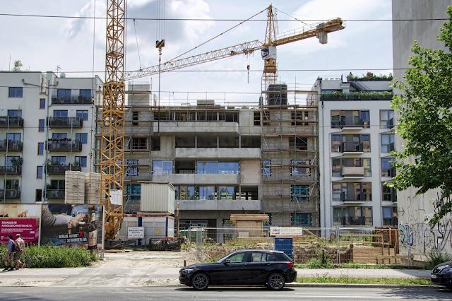 Baustelle Wohnhaus, Bernauer Straße, zwischen Brunnenstraße und Ruppiner Straße, 10115 Berlin, 13.07.2013