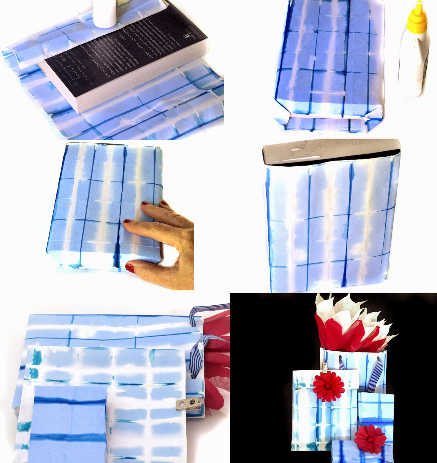 Clear Instructions for creating a Shibori Gift Bag