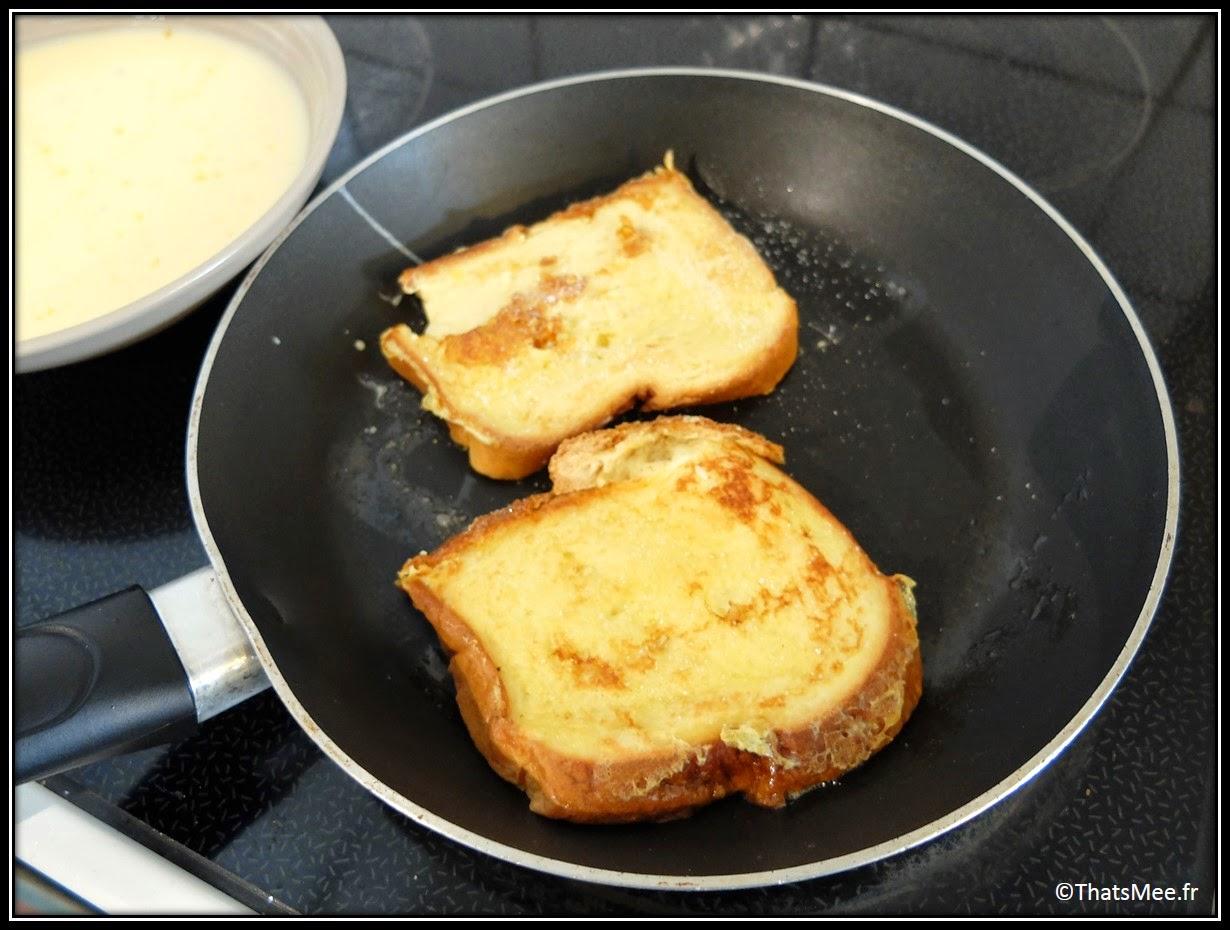 Recette brioche façon pain perdu poele tefal