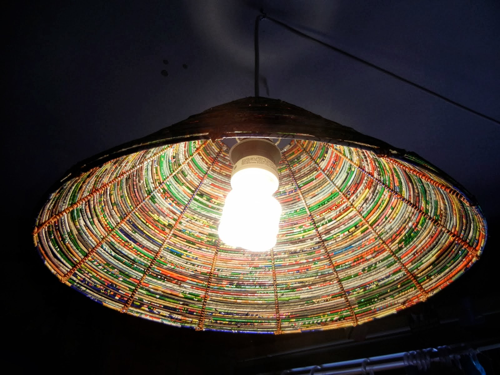 The Art Of Up-Cycling: Diy Lamp Shades - Made From Junk......Dare ... for Recycled Paper Lamp  56mzq