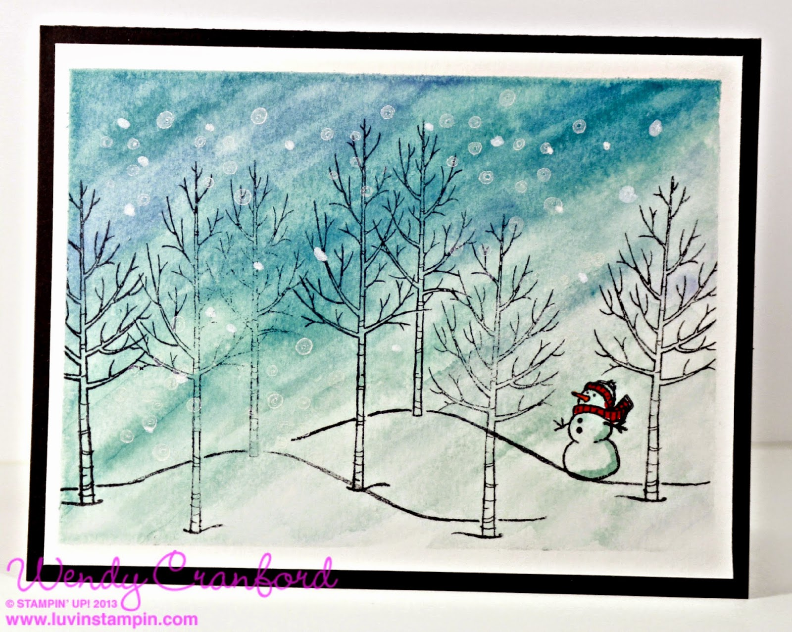 white christmas stamp set from stampin up