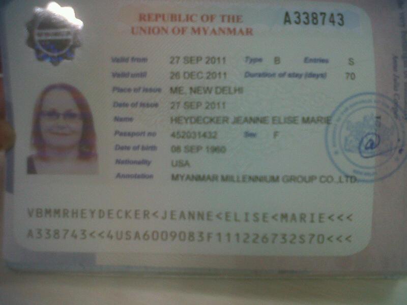 Myanmar Visa Procedure Evisa For Visa Myanmar Myanmar