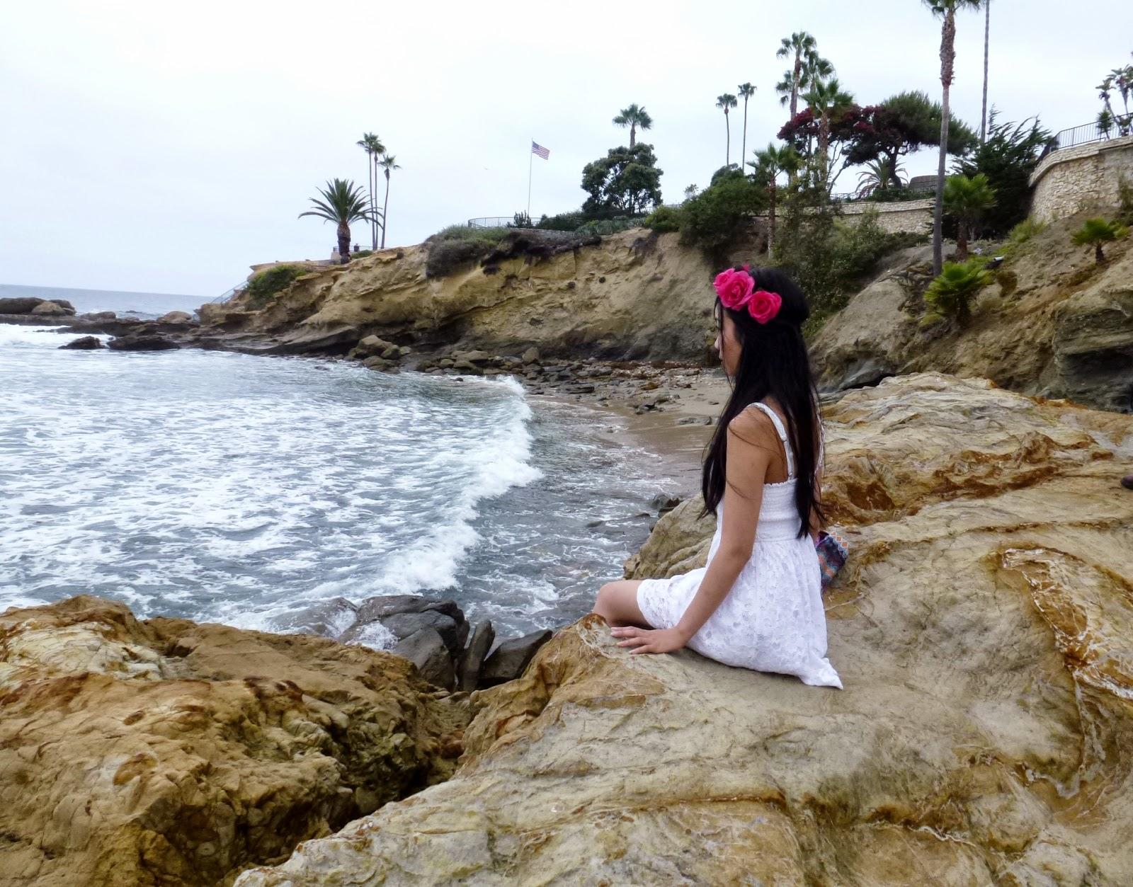Laguna Beach Landscape Girl