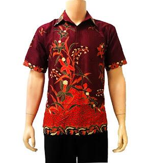 model baju kemeja batik pria