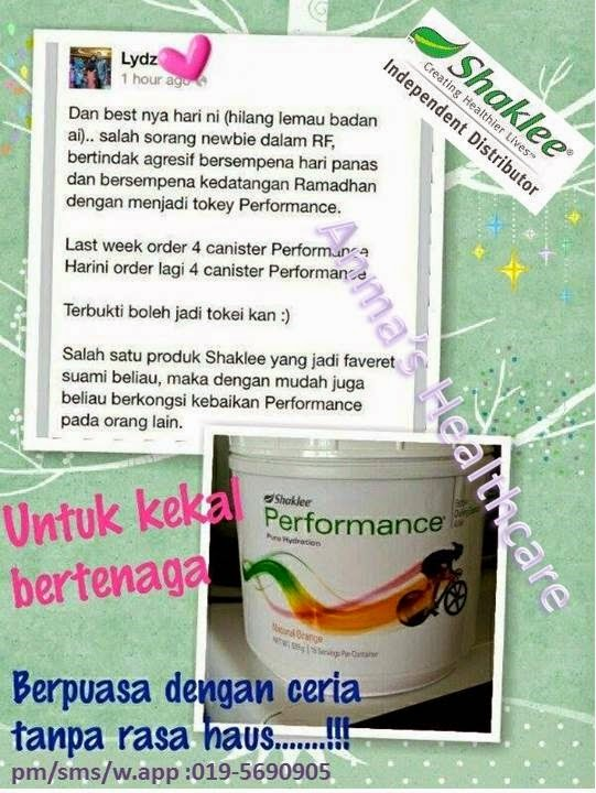 performence pure hydration drink shaklee