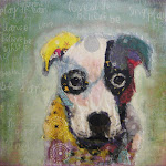 Torn Paper Pet Portrait - Caleb