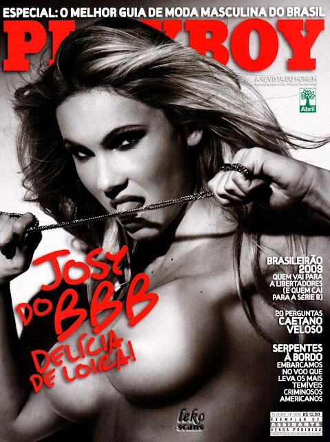 Confira as fotos da deliciosa loira do Big Brother Brasil 9, Joseane Oliveira, capa da Playboy de Maio de 2009!