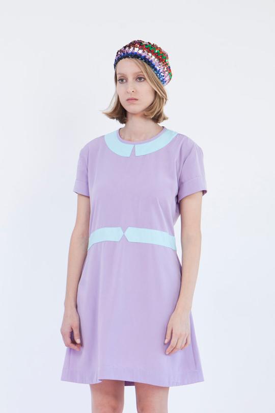 pastel dress with peter pan collar
