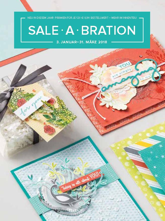 Stampin' Up! Sale-A-Bration 2018; Gratis-Produkte, extra Gastgeberinneneuros und Einsteiger-Goodies
