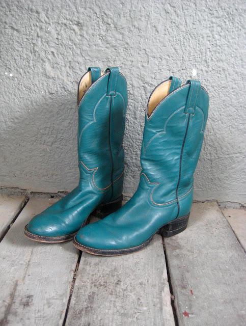Cowboy Boots Teal1