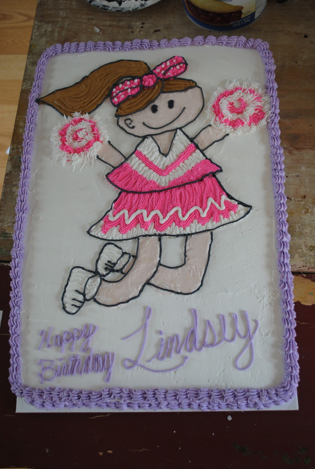 Sweet Dreams By Sara Cheerleader Birthday Cake