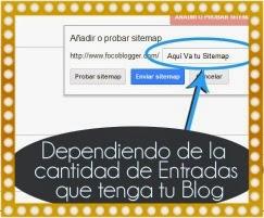 añadir sitemap a blogger