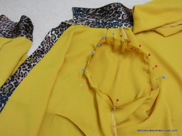colocación manga en blusa
