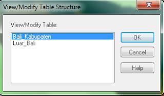 tabel struktur