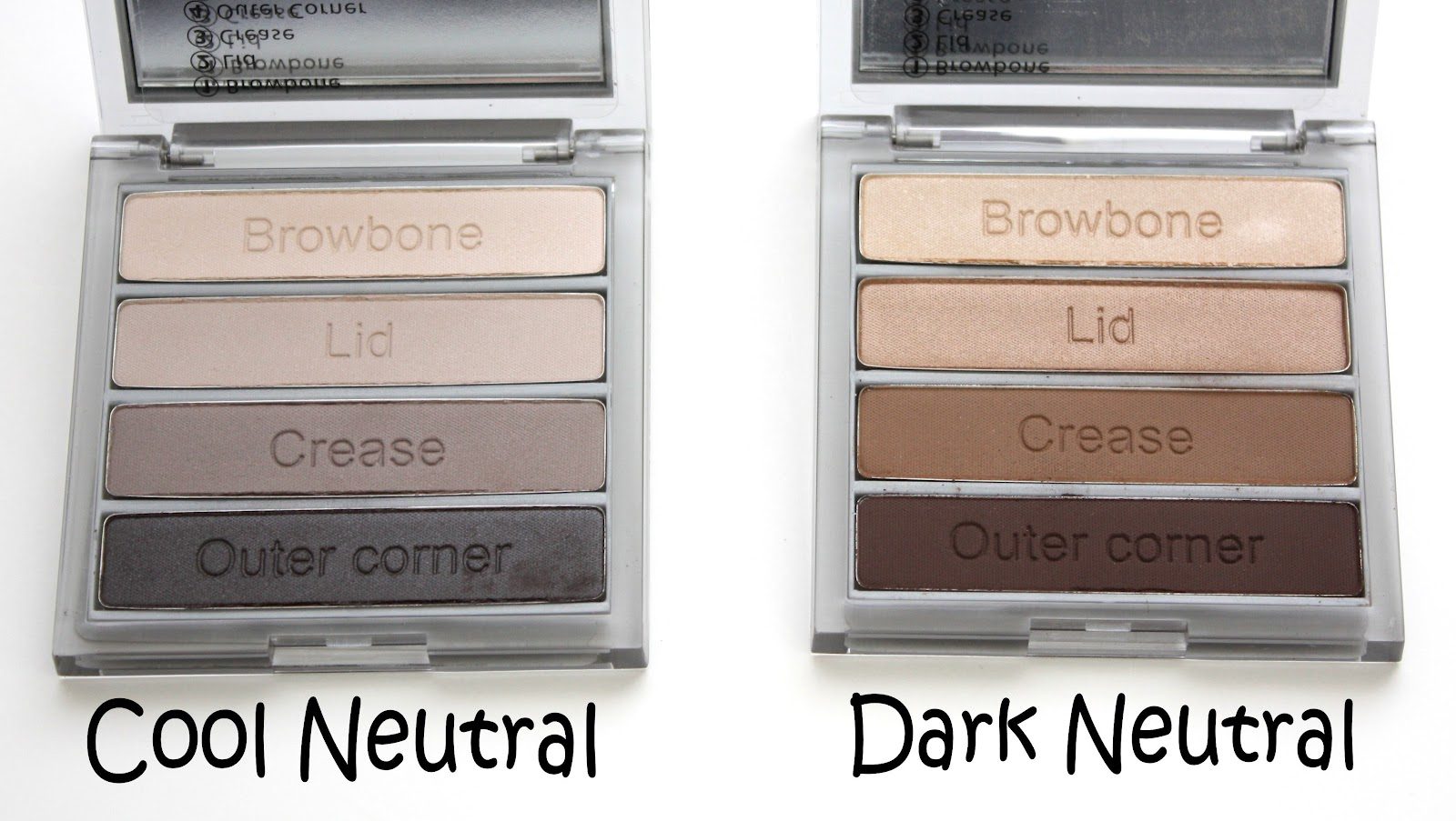Pondering beauty cargo essential palette for eyes for Cool neutral color palette