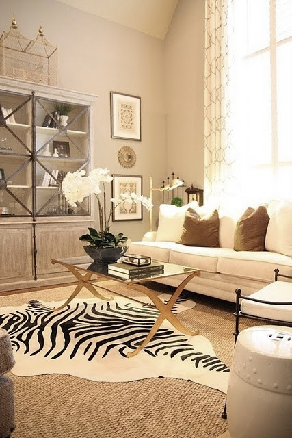 Living Room Zebra Rug eye for design: decorating with zebra rugs.a contemporary classic