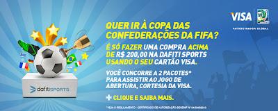 """Promoção """"Futebol com Dafiti Sports e Visa"""""""