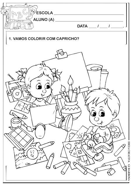Atividade Colorir Volta ás Aulas