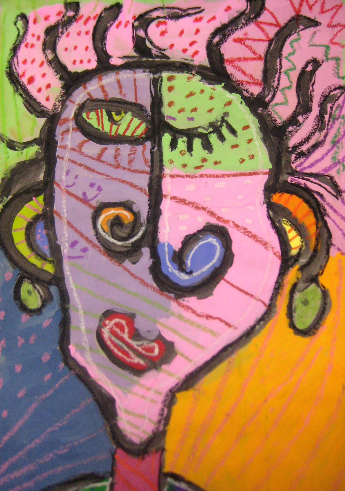 experiments in art education abstract portraits