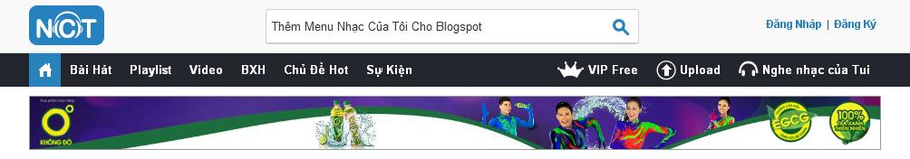 Menu blogspot