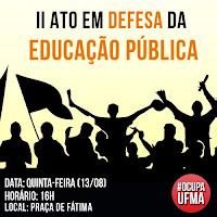 Banner para o chamado ao ato de panfletagem ma praça de Fátima