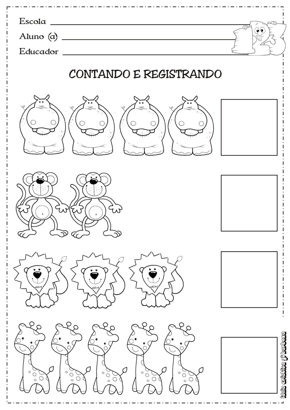 Extremamente Matemática Infantil: Atividade Matemática Educação/ Temática  DP37