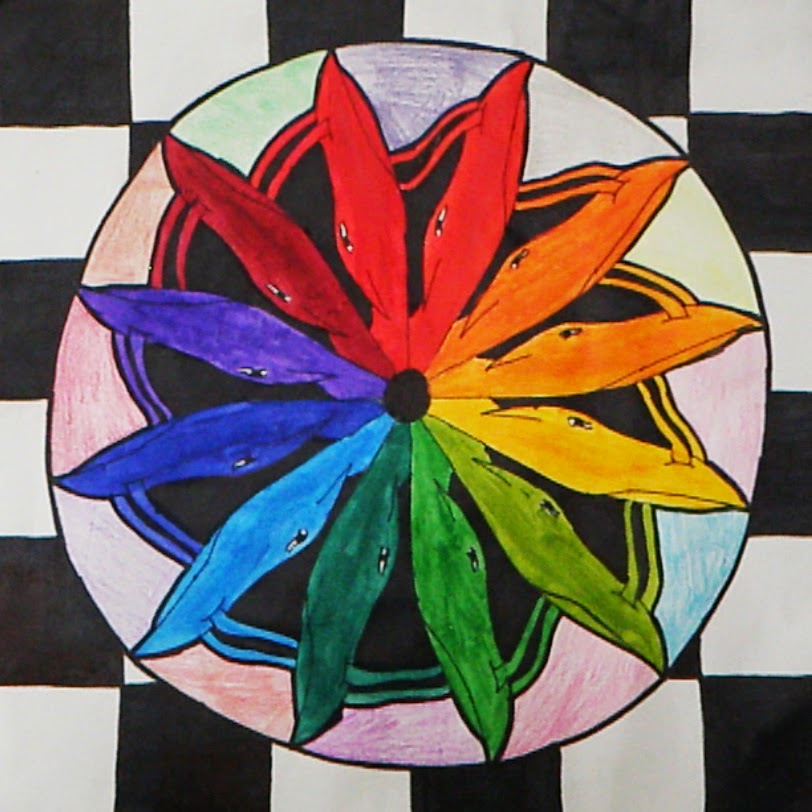 Jerdee S Art Classes Painting Acrylic Color Wheel