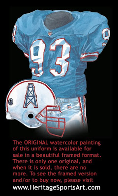Houston Oilers 1993 uniform - Tennessee Titans 1993 uniform
