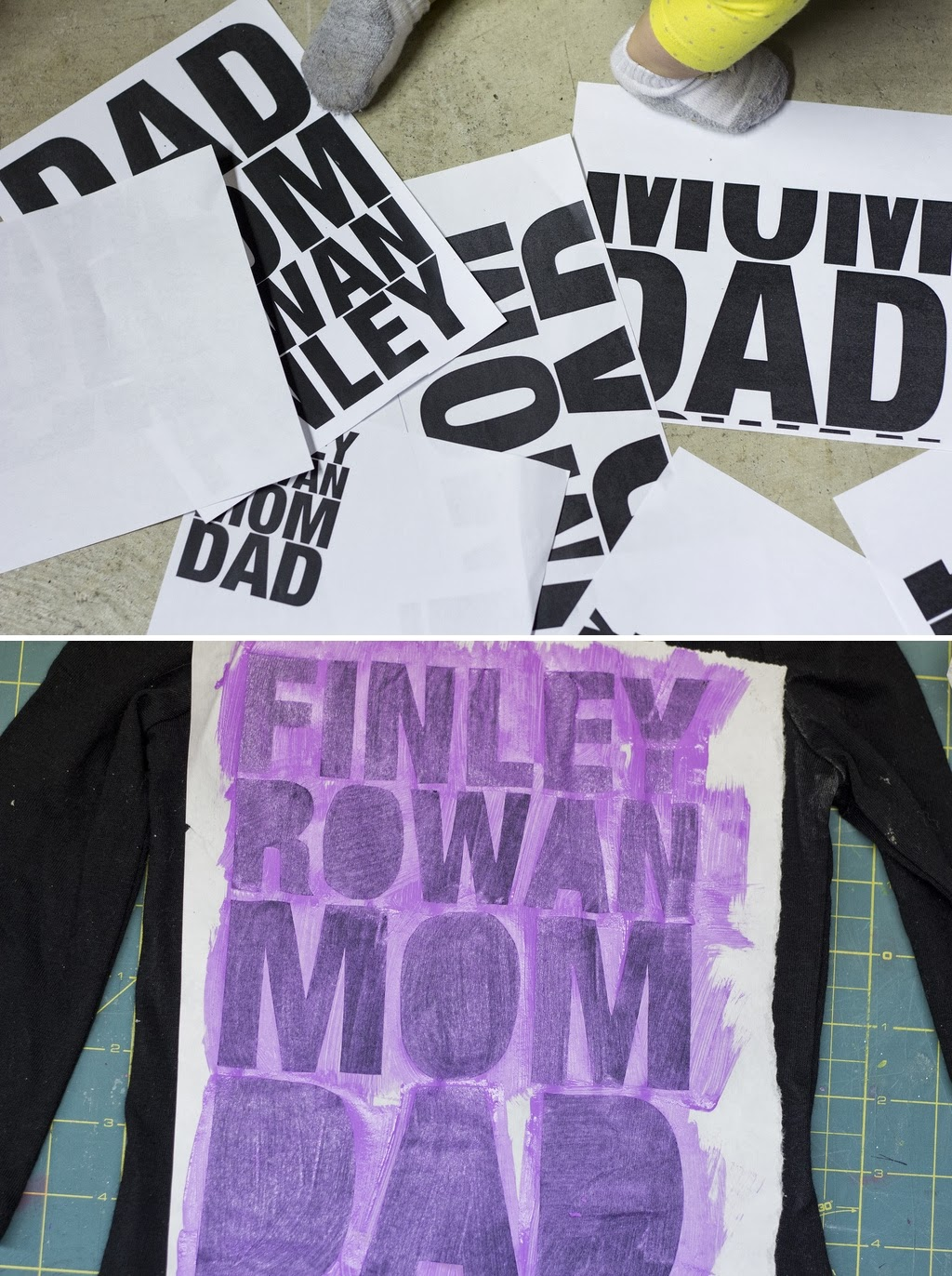Diy Screen Printed Family T Shirts Diy Craft Projects