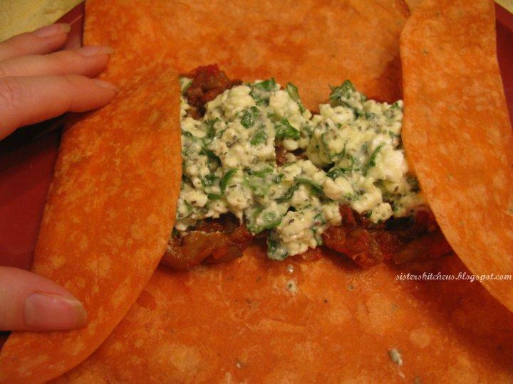 rolling wraps enchiladas