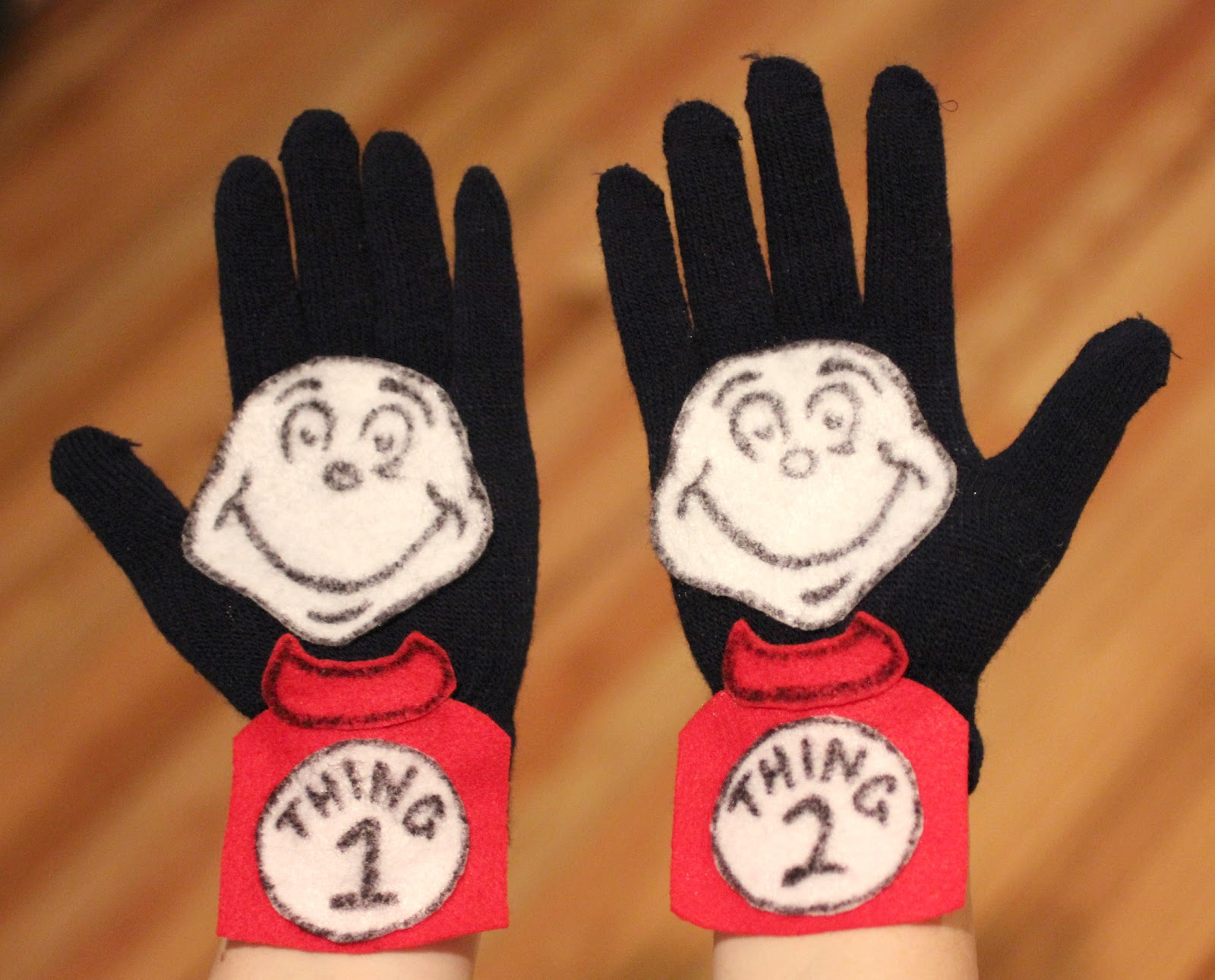 Repeat crafter me thing 1 and thing 2 glove puppets