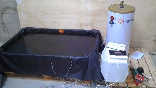 Banc de test pour plancher chauffant spiruline