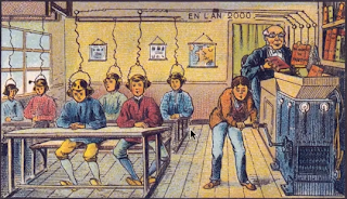 20th century French interpretation of what classrooms will look like in the year 2000