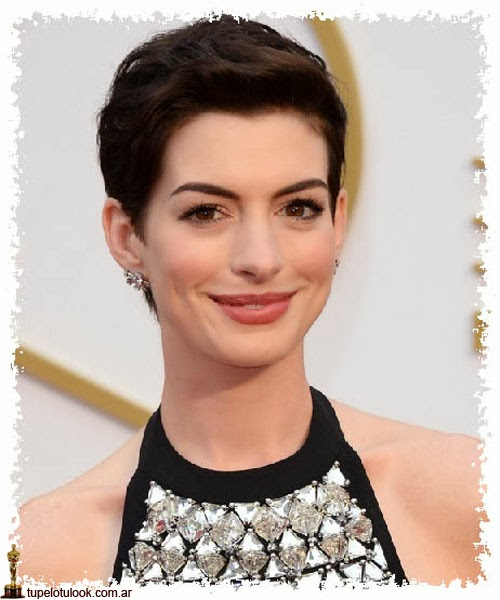 cortes de pelo 2014 Anne Hathaway