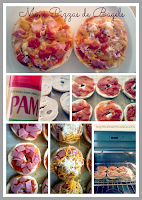 mini pizzas con bagels en 10 min