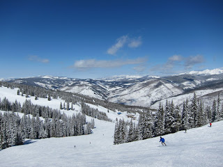 Skiing down Ramshorn to Mid-Vail