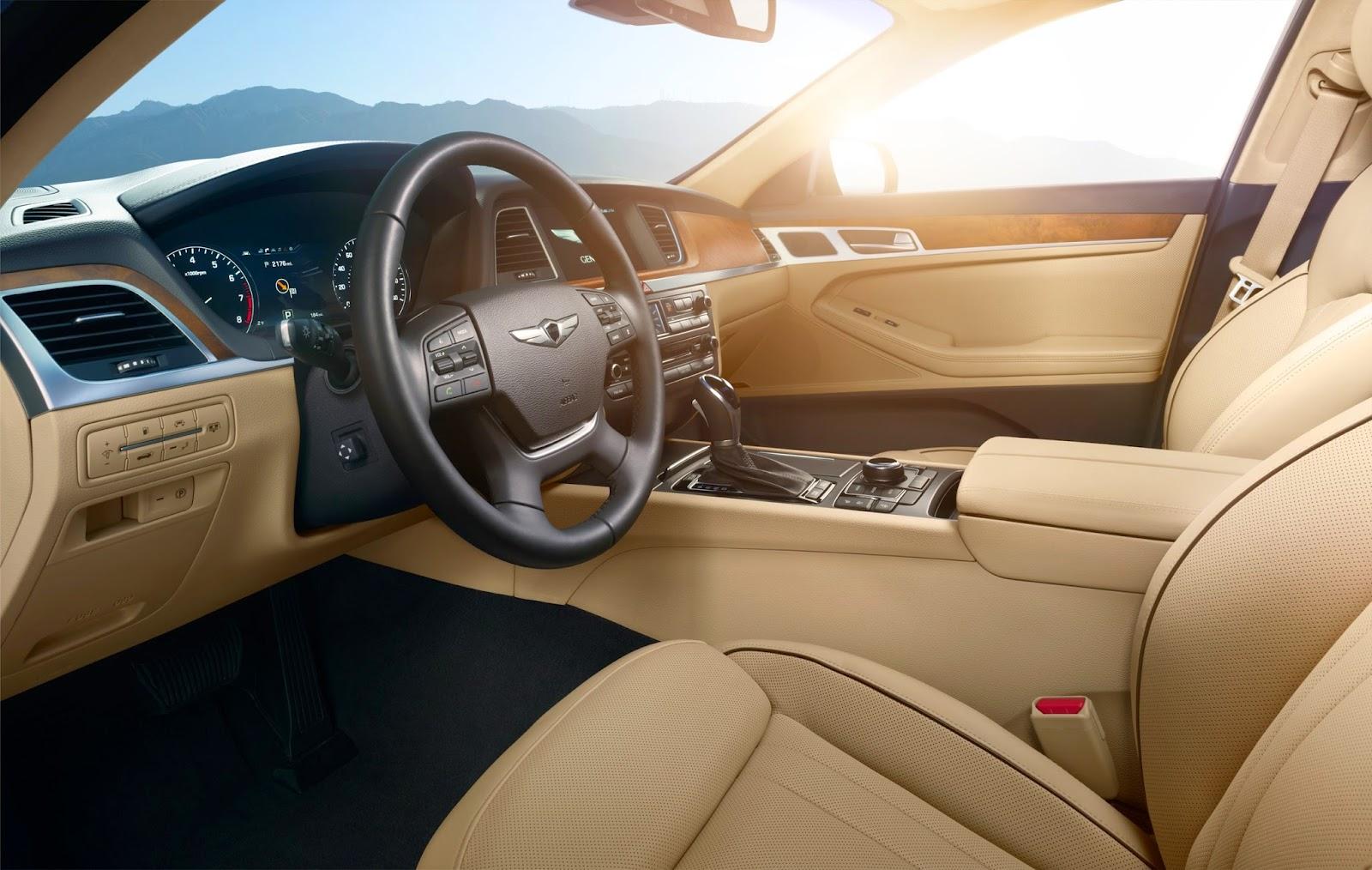 Interior view of 2015 Hyundai Genesis