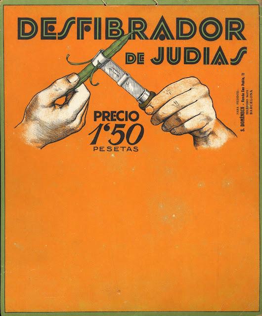anuncio, desfibrador de judias