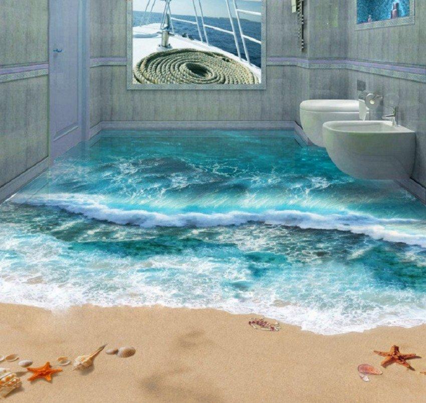 3D Floor On Beach 4